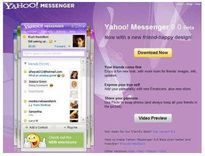 Yahoo messenger 9 final full offline installer direct link.
