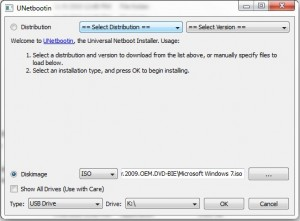 Create Windows 7 Pen Drive version with UNetbootin 300x221 Install and boot Windows 7, Vista or XP from USB pen drive