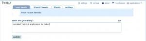 Twitter application for Orkut