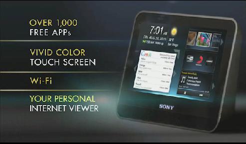 Sony Dash Portable internet viewer