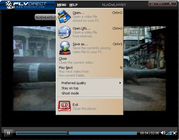 Download and play FLV videos offline using FLV player for Windows XP, Windows 7 and Windows Vista