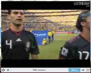 FIFA 2010 live on Ustream