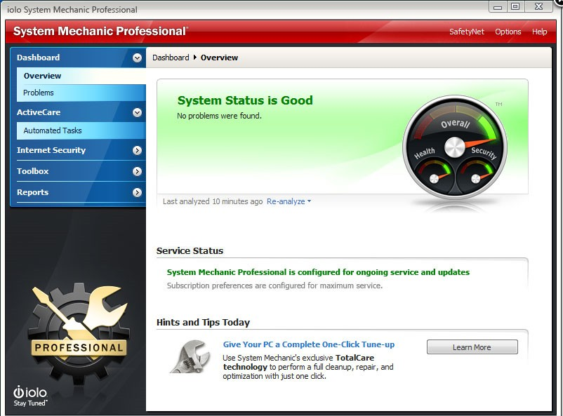 System Mechanic Professional 10 activation key