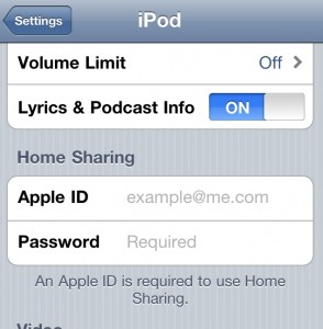 Home Sharing 294x300 Set up iOS 4.3 home sharing in iPhone, iPod or iPad