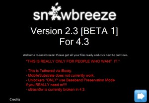 Sn0wbreeze 2.3 interface