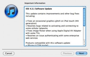 iOS 4.3.1 changes