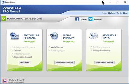 ZoneAlarm Free Firewall for Windows