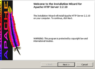Apache Windows Installation