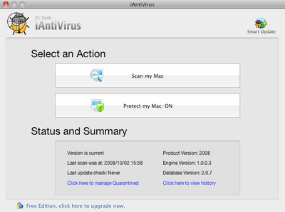 PC Tools iAntivirus for Mac OS X