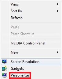 Create Windows 7 theme