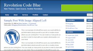 revolution blogger template code blue