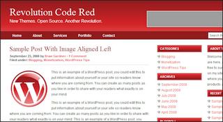 Revolution blogger template red