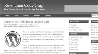 revolution blogger template code gray
