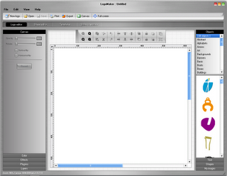 Logo maker 2 interface
