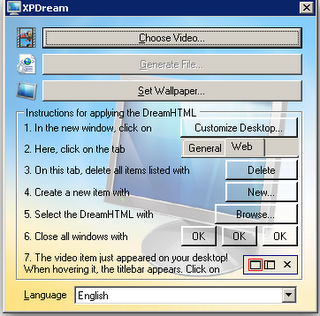 Use Dreamscene in Windows XP