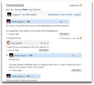 Alternate comment form systems for Blogger intensedebate