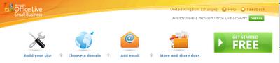 Microsoft office live free web hosting