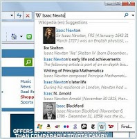 Search suggestions in internet explorer 8