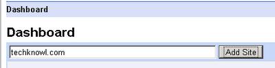 Google Webmasters dashboard