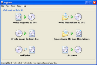 download Imgburn Freeware CD DVD burning softwares for Windows