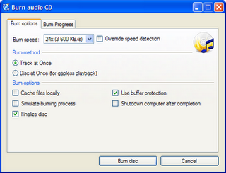CDBurnerXP  freeware CD DVD burning software for windows