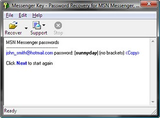 Recover Yahoo ,ICQ , MSN Google talk passwords