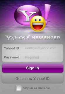 Download Yahoo messenger for iPhone