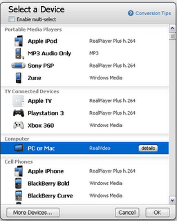 Real player SP build 12 video converter
