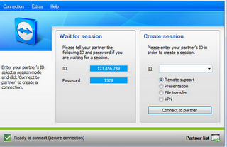 Access remote computer and control it via internet using Teamviewer