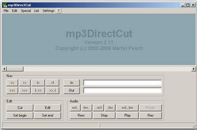 mp3DirectCut free MP3 cutter for Windows