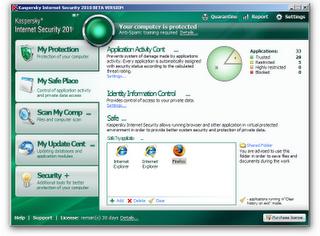 My safe place Kaspersky internet security 2010