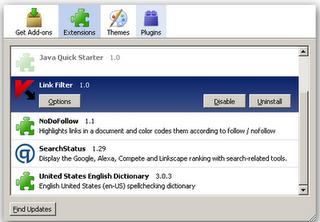 Firefox link filter  Kaspersky internet security 2010