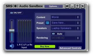 Improve sound quality using SRS audio sandbox