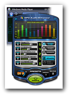 Improve sound quality DFX Audio enhancer