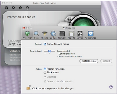 Kaspersky antivirus final for Mac OS