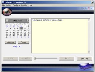 1-abc.net Personal diary 2.01