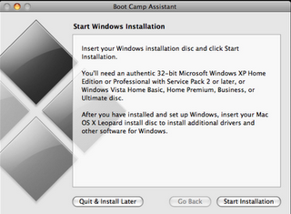 Install Windows 7 with  MAC OS X